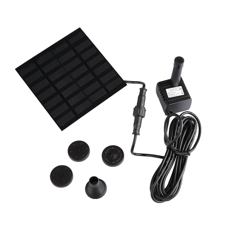 EMEBAY Miniature 7V 1.2W Solar Pump Solar Power Water Pump Garden Fountain Submersible Pump