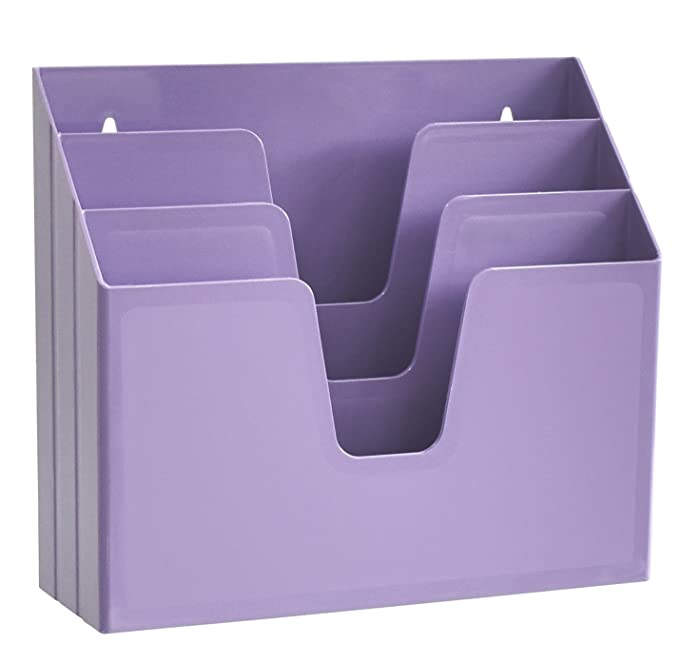 Acrimet Horizontal Triple File Folder Organizer (Purple Color)