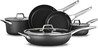 product image for Calphalon Premier Hard-Anodized Nonstick 8-Piece Cookware Set, Black