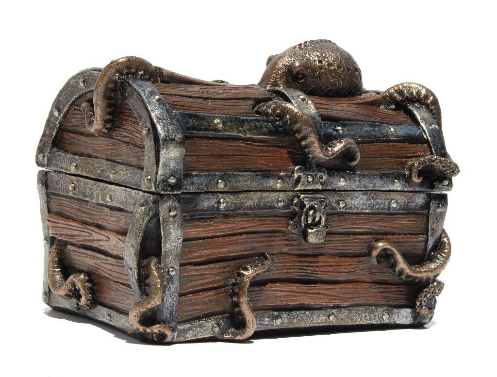 Octopus Treasure Chest Trinket Box Statue Decorative Box