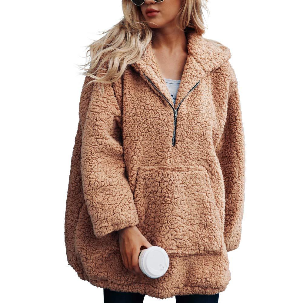 Btruely Herren Chaqueta Suéter para Mujer, Abrigo de Lana Abrigo Jersey Mujer Invierno Talla Grande Hoodie Sudadera con Capucha Mujer Caliente y ...