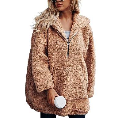 Darringls Abrigos de Invierno Mujer, 2018 Suéter de Chaqueta otoño Camiseta de Manga Larga Mujer Jersey cálido Hoodie Felpa Sudadera con Capucha: Amazon.es: ...