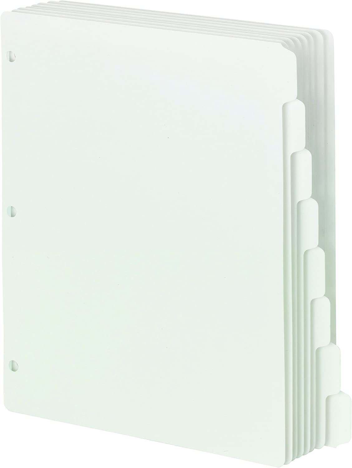 89418 Smead Three-Ring Binder Index Dividers White Letter Size 1//8-Cut Tab 96 per Box