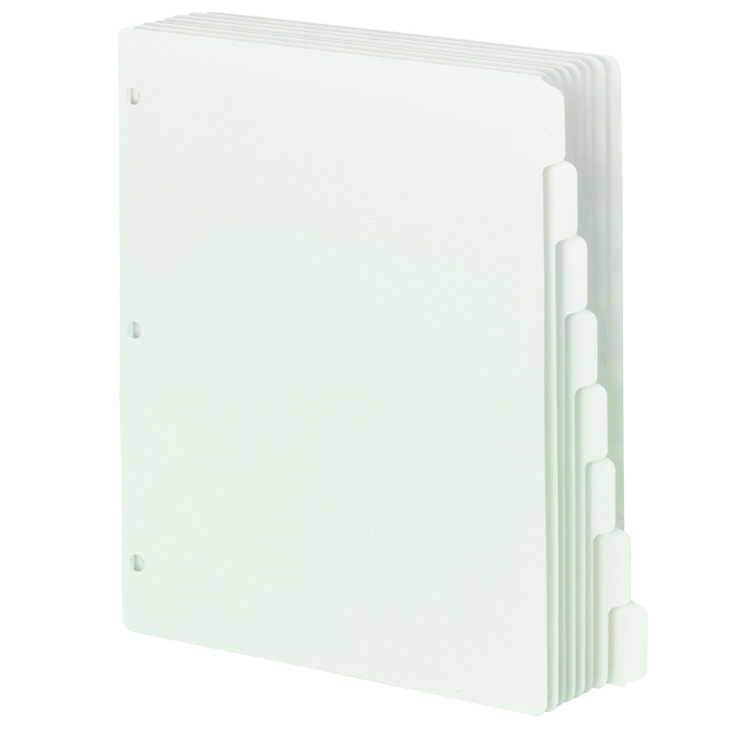 Smead Three-Ring Binder Index Dividers, 1/8-Cut Tab, Letter Size, White, 96 per Box (89418)