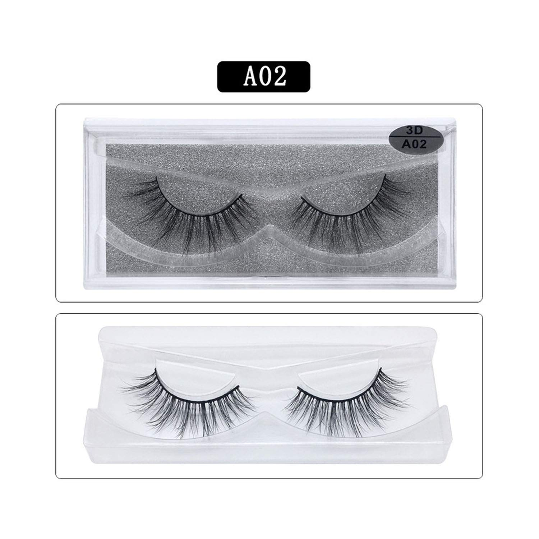461d6f410db Amazon.com : Mink Eyelashes 3D Mink Lashes Thick HandMade Cilios Full Strip  Fake Eyelash Cruelty Free Luxury 1pair False Eyelashes, A14 : Beauty