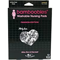 Bamboobies Bamboobies Nursing Pads for Breastfeeding   6 Pairs, Flirty Lace   Reusable & Washable Breast Pads, 12 Count