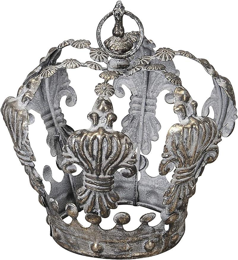 Dekokrone Krone Metall Metallkrone Florissima Farbe silber Dekoration NEU