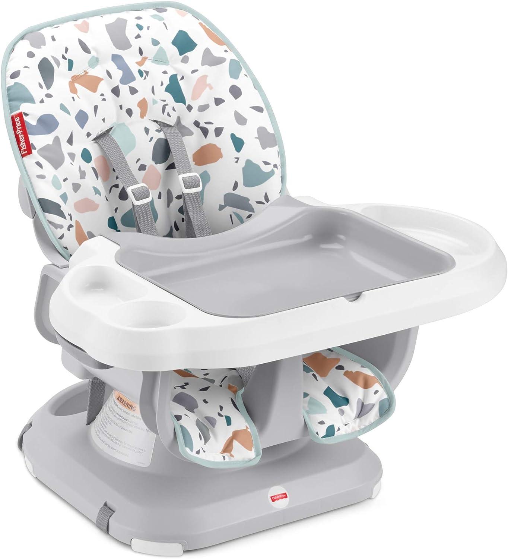 si/ège pour repas /évolutif pour b/éb/é et enfant jusqu/à 15kg Fisher-Price chaise haute compacte Terrazzo GWD47