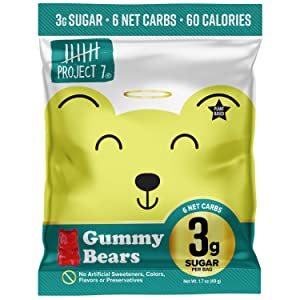 Low Sugar Gummy Bears - Keto Gummies with 3g of Sugar - Vegan Candy Made Without Artificial Flavors and Organic Cane Sugar - 1 Pack