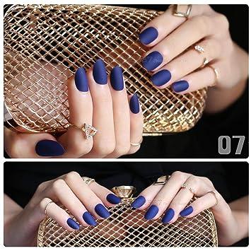 Amazon.com: Aaviland - Uñas postizas de color azul marino ...