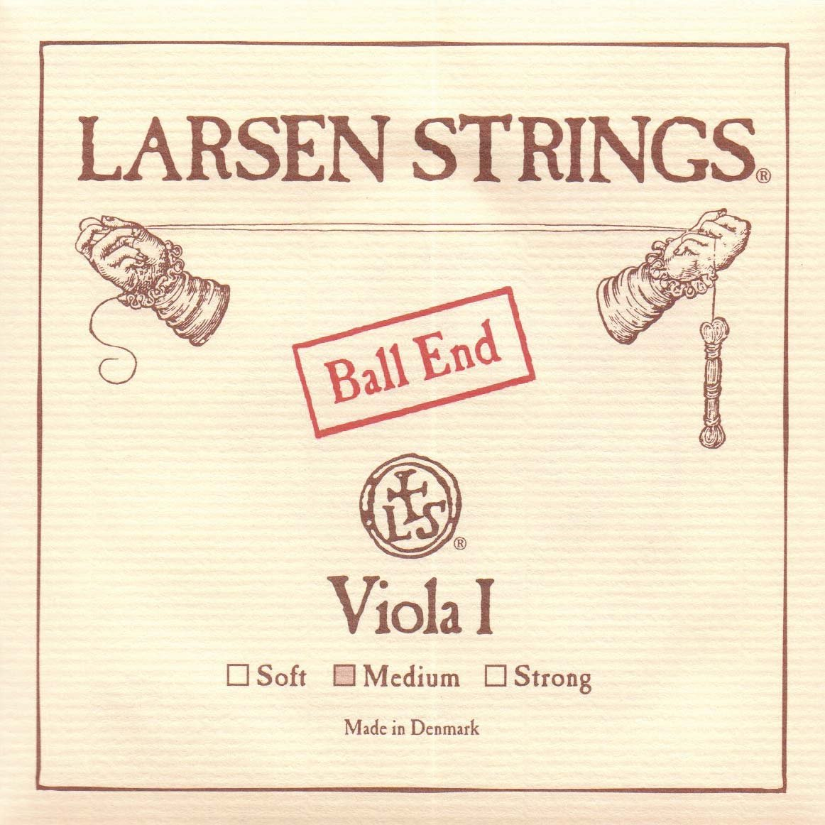 Larsen up to 16.5 Viola A String Medium Aluminum/Steel Ball-End Lar-4879