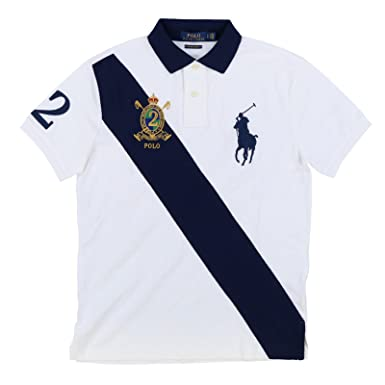 02b02599 ... low price polo ralph lauren mens big pony crest custom slim fit mesh  sash polo shirt