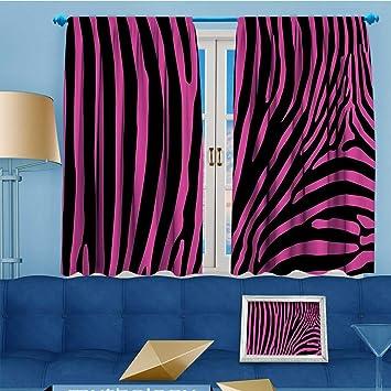 Zweige Fashion Design Print Isoliert Blackout Vorhang Zebra Stripesin  Jubelnde Rainbow Farbe Modern Style Mit Tops