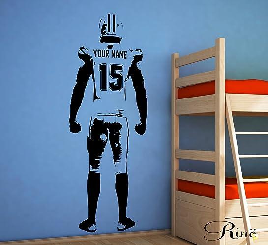 Amazon.com: Football Wall art - Wall Decal American Football Decor ...