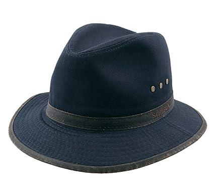 b6c4e5f785f Stetson - Bucket Hats Packable Men Traveller Cotton - Size S - bleu-marine-