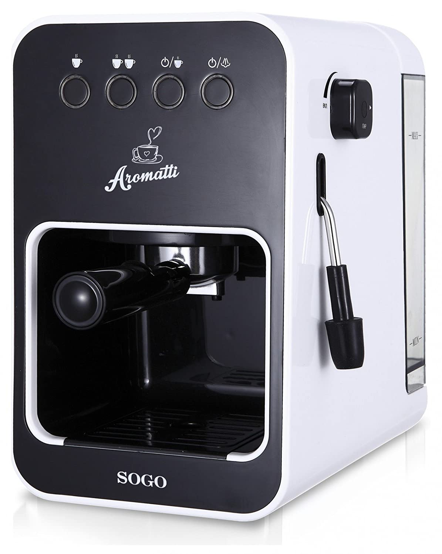 Cafetera espresso, capuccino, monodosis, café molido 1050W: Amazon ...