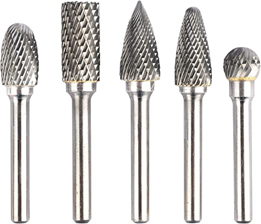 8x Double Cut Carbide Rotary Burr bits Set 1//4 Inch Shank for Die Grinder USA