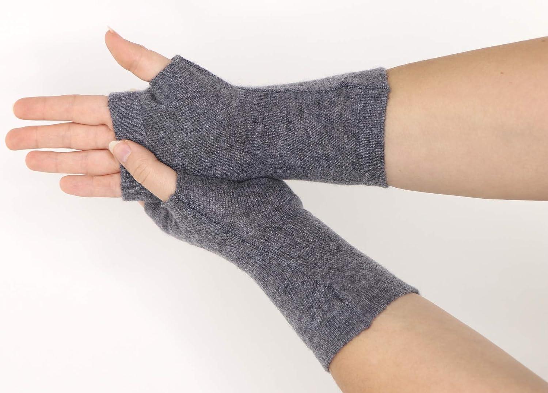 Prettystern Kaschmir Pulsw/ärmer fingerlose Handschuhe Stulpen Weich Warm