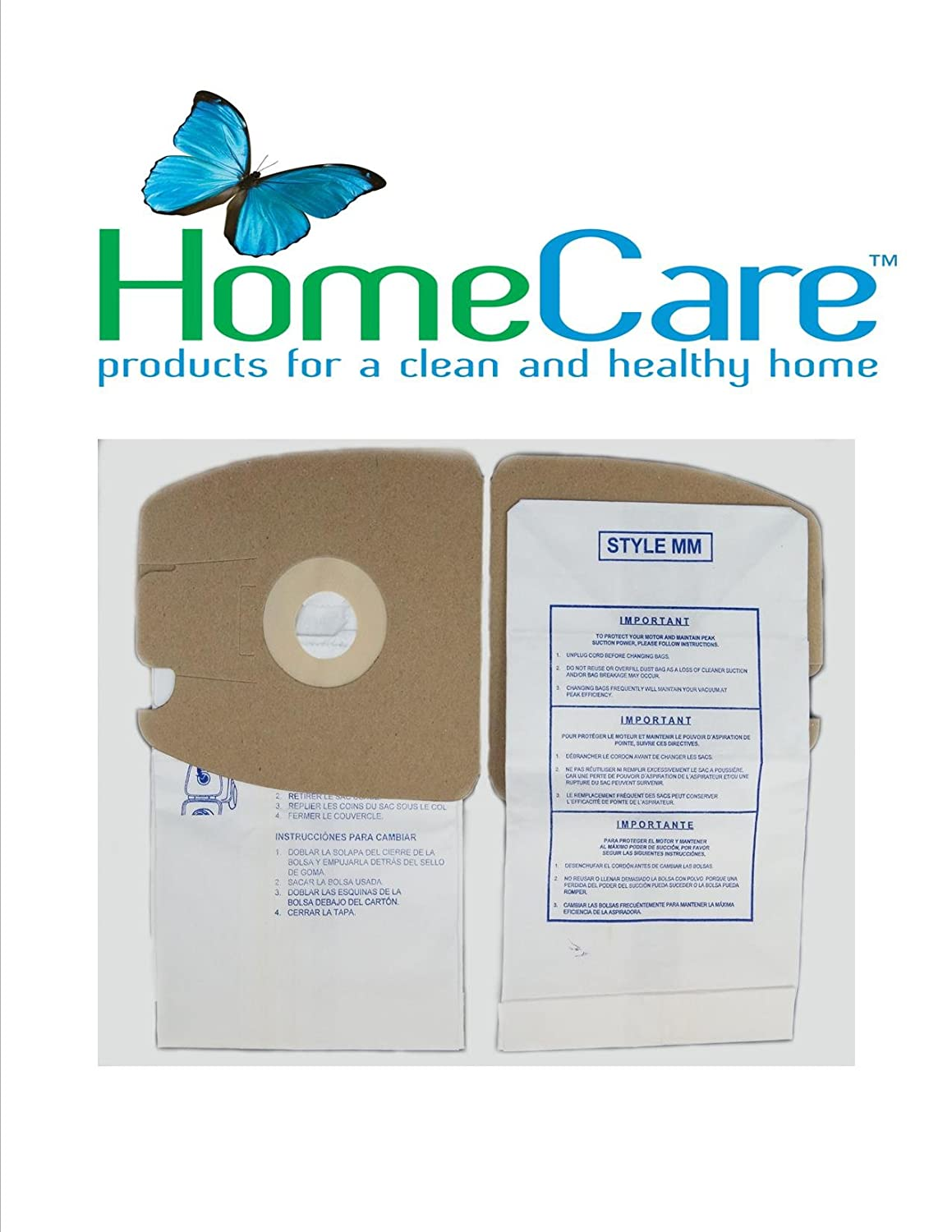 Eureka MM, Sanitaire MM Microlined Filtration Bags by Home Care Products, 10 bags 3600 Series Mighty Mite; 60295, 60296, 60297, 15790, 63253 B01M2TZXJH