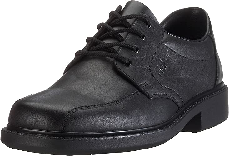 Rieker Slip on Shoe Lace Up Black, Real Leather 16502 New | eBay