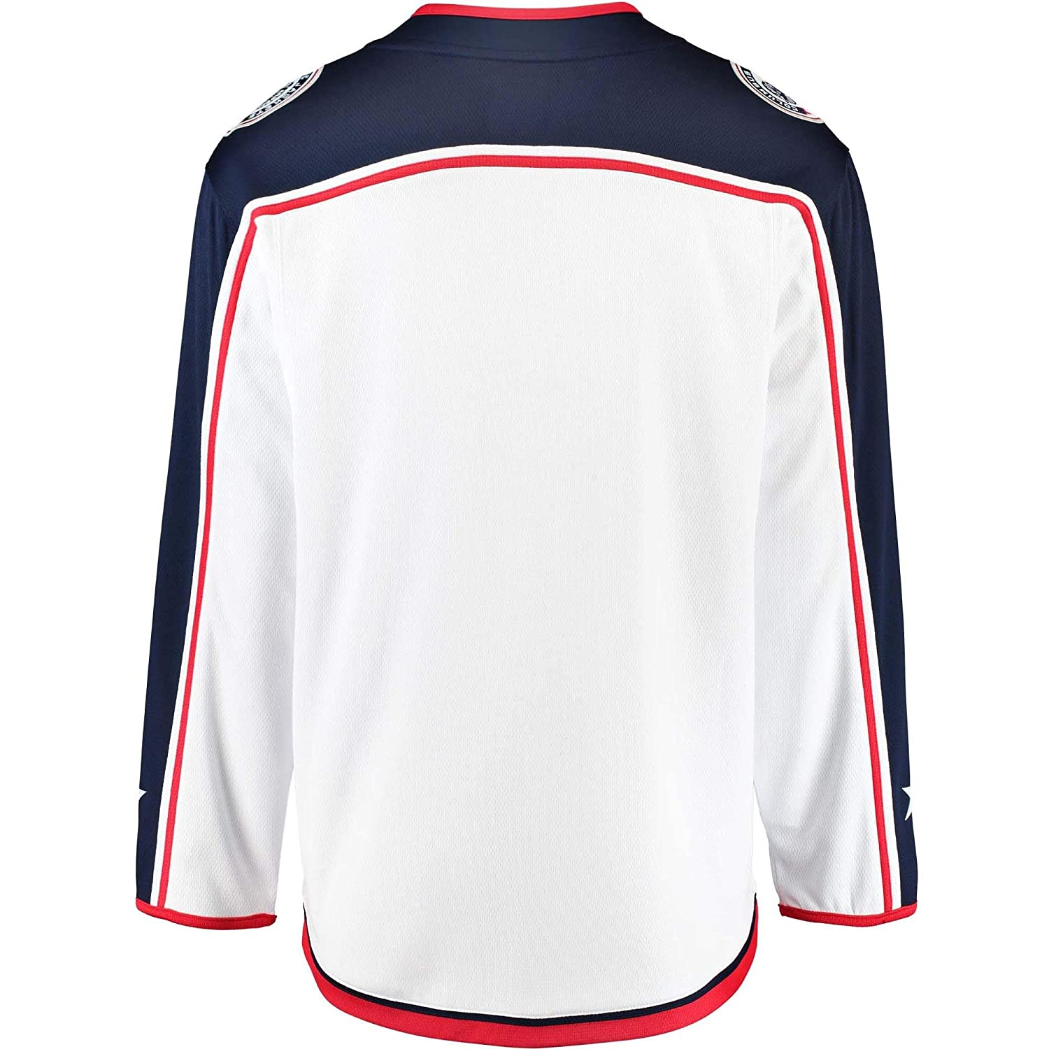 competitive price f6671 4ca02 Amazon.com  Outerstuff Columbus Blue Jackets Blank White Youth Away Premier  Team Jersey (Small Medium 8-12)  Clothing