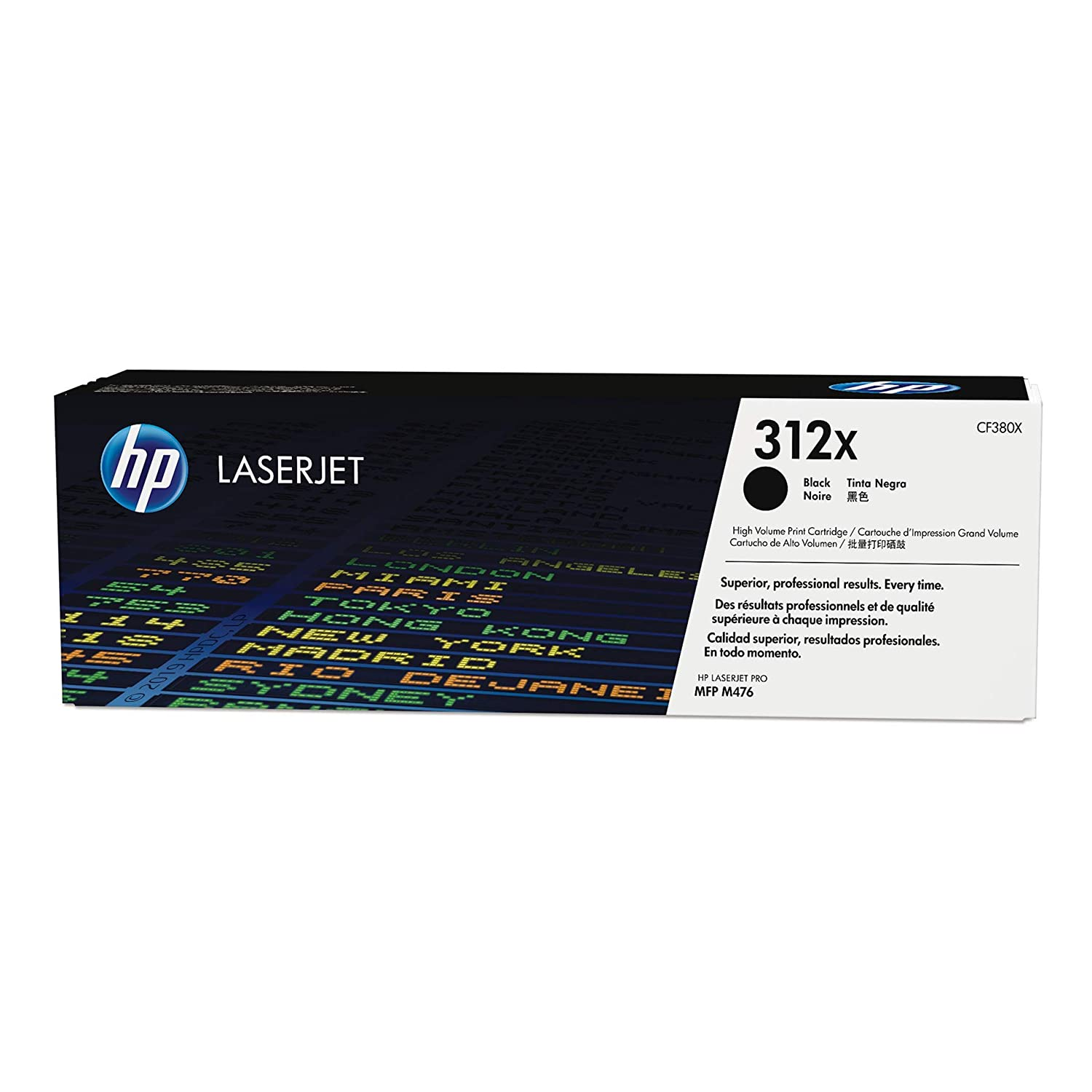 HP 312X (CF380X) Black High Yield Toner Cartridge for HP Color LaserJet Pro M476