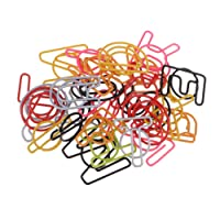 Dolity 26 Pieces Mixed Bookmarks File Paper Documents Paperclips A - Z Letter Shape Metal Clips Office Shool Stationery Gift