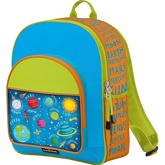 Amazon.com: Crocodile Creek Kids Eco Solar System School Backpack, Blue, 14