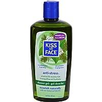 Kiss My Face Anti-Stress Shower Gel, Woodland Pine & Ginseng 16 oz