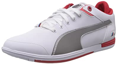 a9573708bd9b Puma Men s Bmw M Pilot Lo White and Steel Grey Sneakers - 11 UK  India
