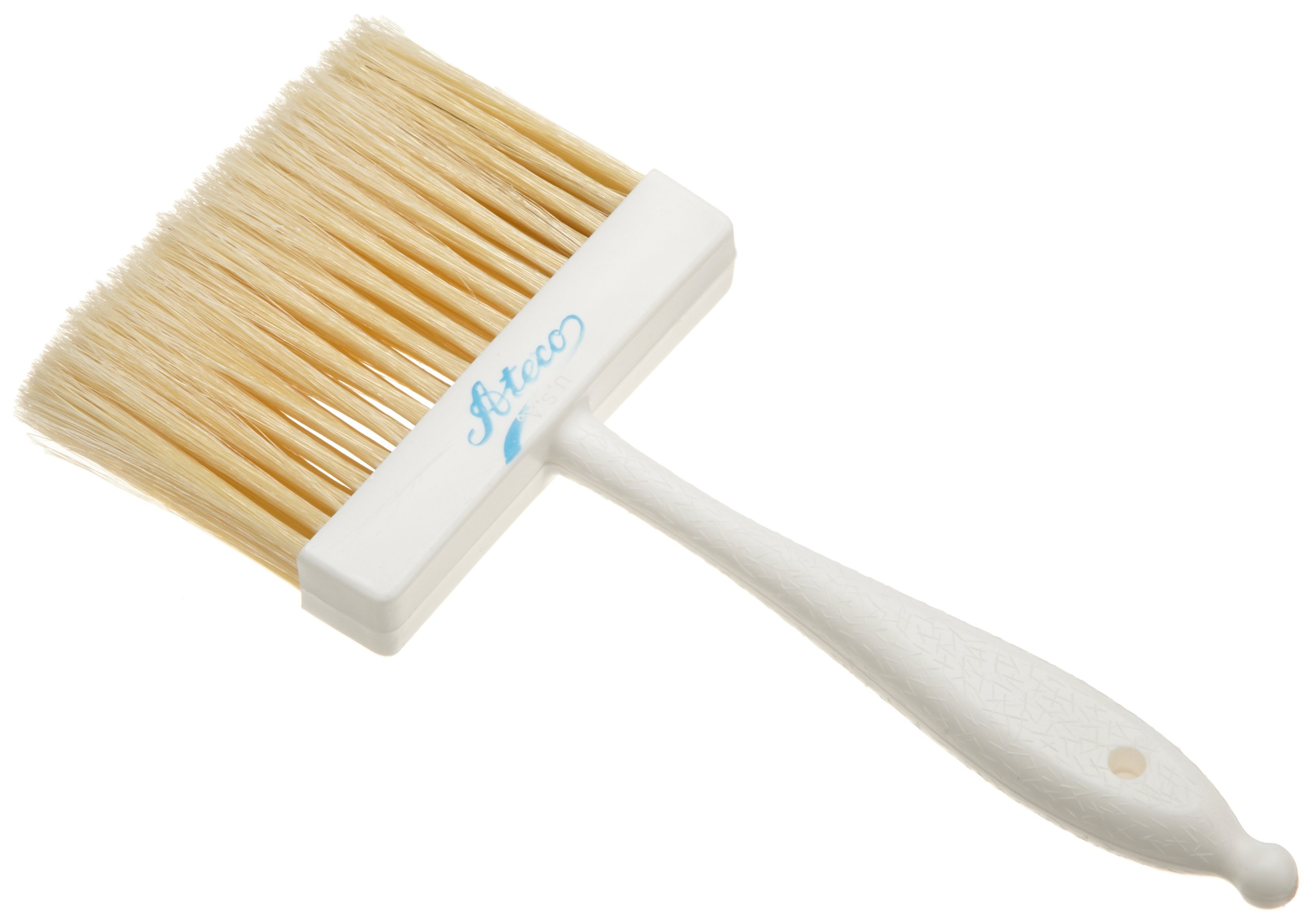 Ateco 1674 Pastry Brush, 4-Inch Wide Head with Natural White Boar Bristles & Molded Plastic Handle by Ateco