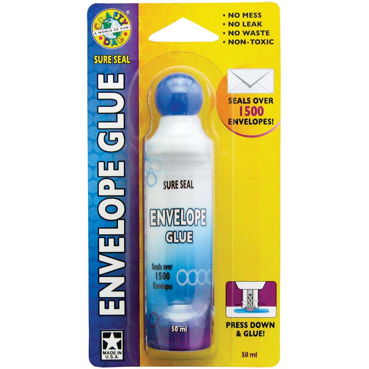 What is envelope glue made of?
