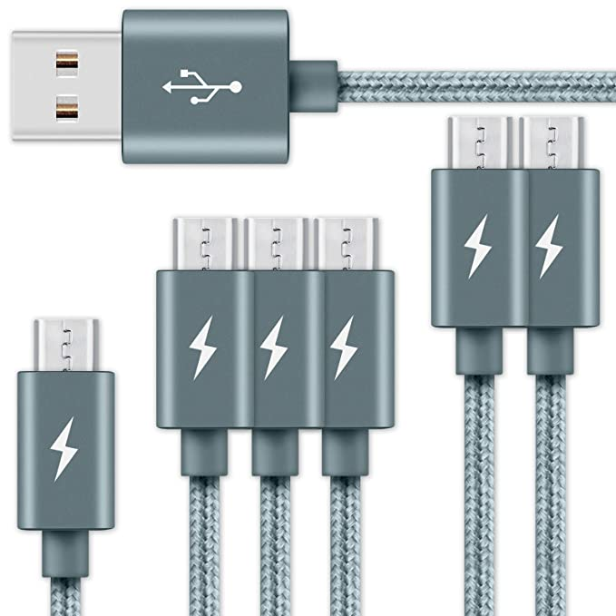 Tigerbox® 6 x carga rápida 2.4 Micro USB 3.1 datos/cargador ...