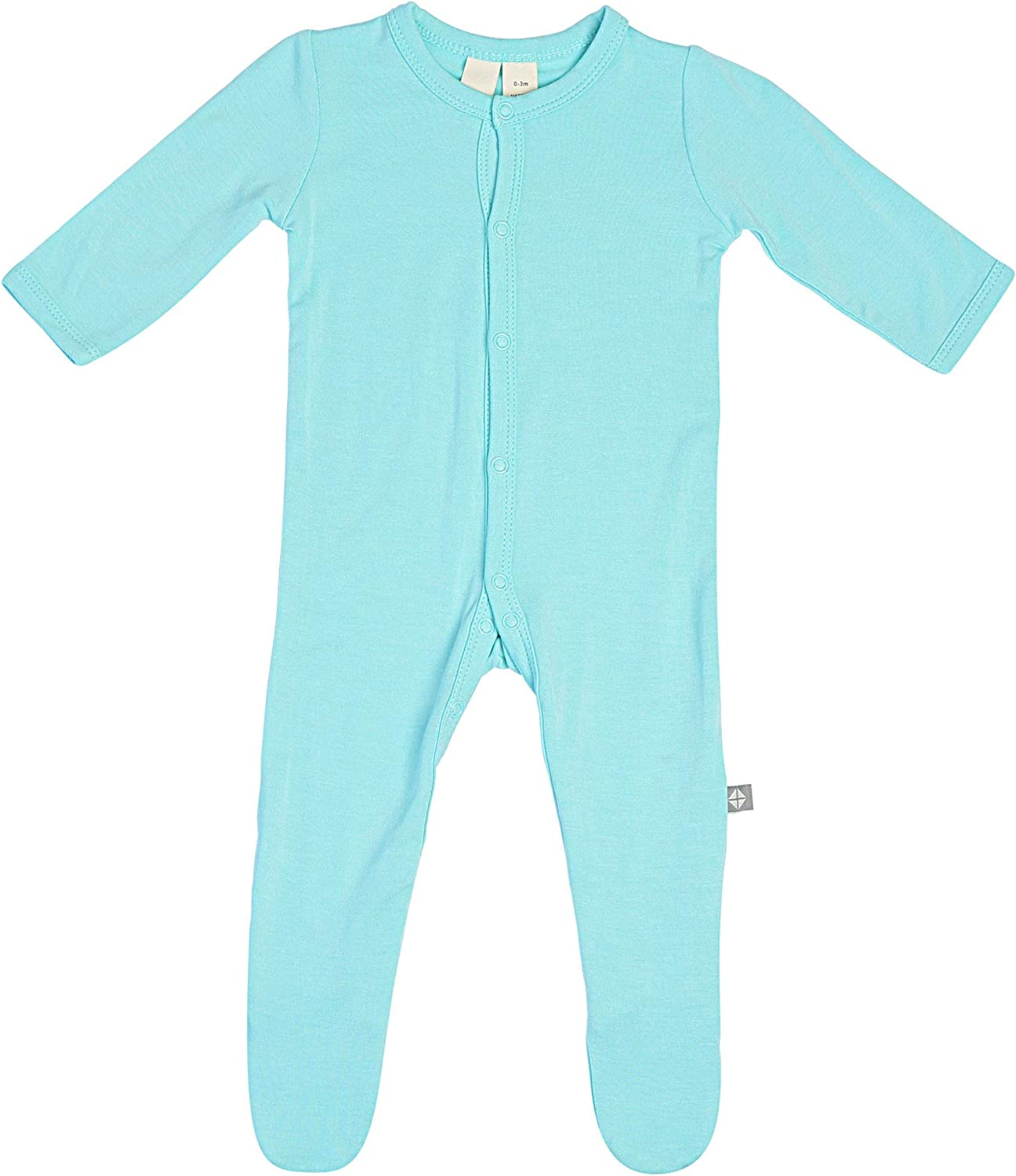 Baby Footed Pajamas Made of Soft Organic Bamboo Material Solid Colors KYTE BABY Footies 0-24 Months