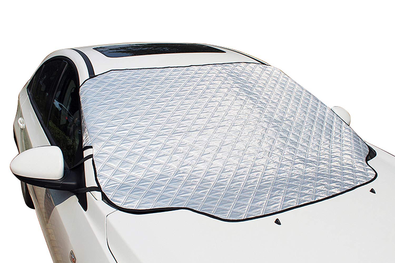 Amazon.es: iZoeL Cubierta Parabrisas Magnéticas Protectoras de Parabrisas Protectoras del Hielo Sol Nieve 147 CM * 116 CM Para automóviles estándar