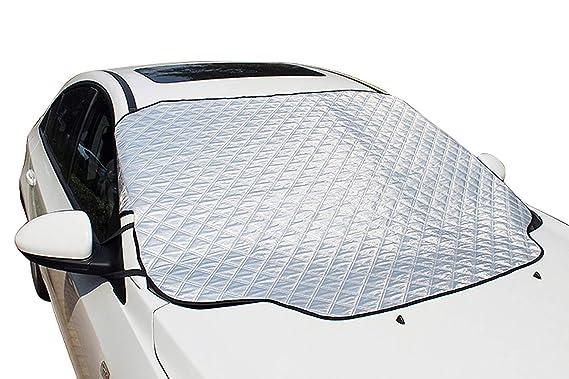 iZoeL Cubierta Parabrisas Magnéticas Protectoras de Parabrisas Protectoras del Hielo Sol Nieve 147 CM * 116 CM Para automóviles estándar