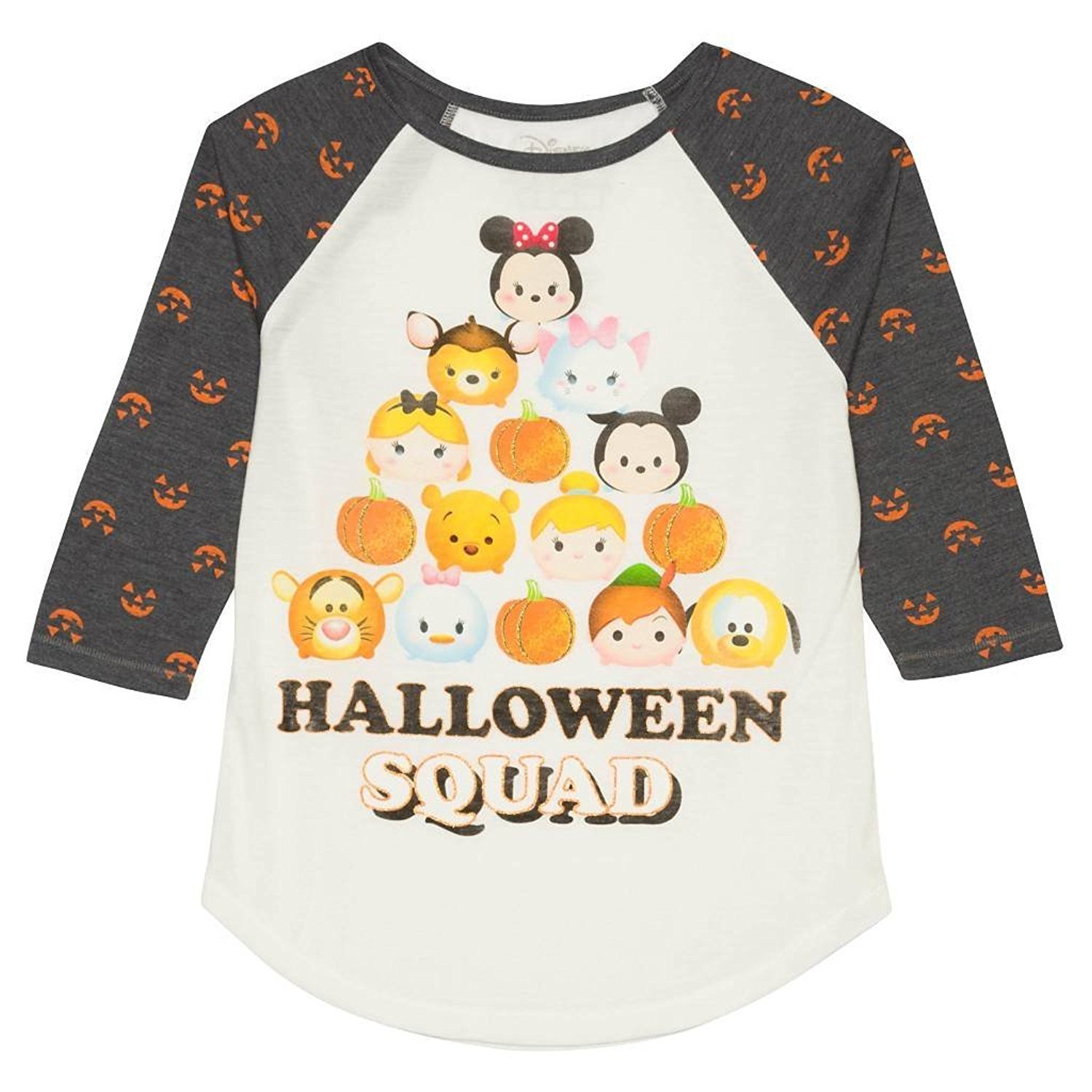 b5eeab418cb04 Amazon.com: Disney Girls' Tsum Tsum Halloween Long Sleeve Raglan T ...