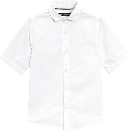 next Niños Camisa Oxford De Manga Corta (3-16 Años) Blanco 16 ...