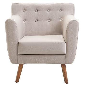 Amazon.com: Silla tapizada tela asiento trasero sofá brazo ...