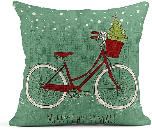 Kinhevao Cojín Bicicleta roja Bicicleta de Montar en Navidad ...