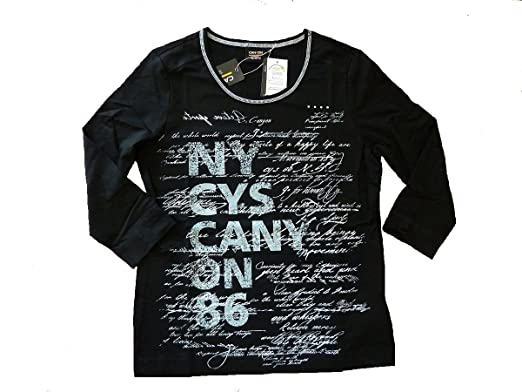 Canyon T Shirt 34 Arm Druck schwarz (50): : Bekleidung