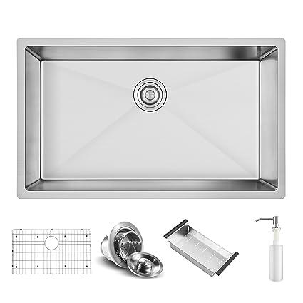 Harrahs 30.2 x 18.4 x 10 Inch Deep Stainless Steel Kitchen Sink ...