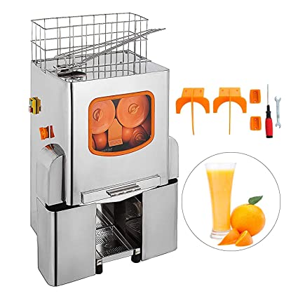 Moracle Licuadora Exprimidor Comercial Exprimidor de Naranja Eléctrico 22-25 Naranjas / Min Licuadora de