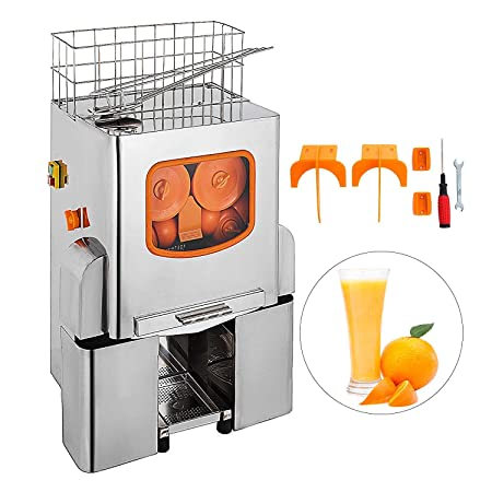 Moracle Licuadora Exprimidor Comercial Exprimidor de Naranja Eléctrico 22-25 Naranjas / Min Licuadora de Zumos Automático 120W Juicer de Naranja/Lemón ...