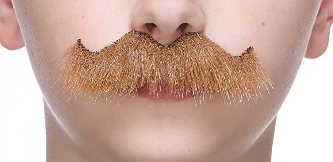 Fu Manchu Moustache Hippie Fancy Dress Halloween Costume Accessory 3 COLORS
