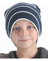 RJM Kids Striped Slouch Beanie Hat