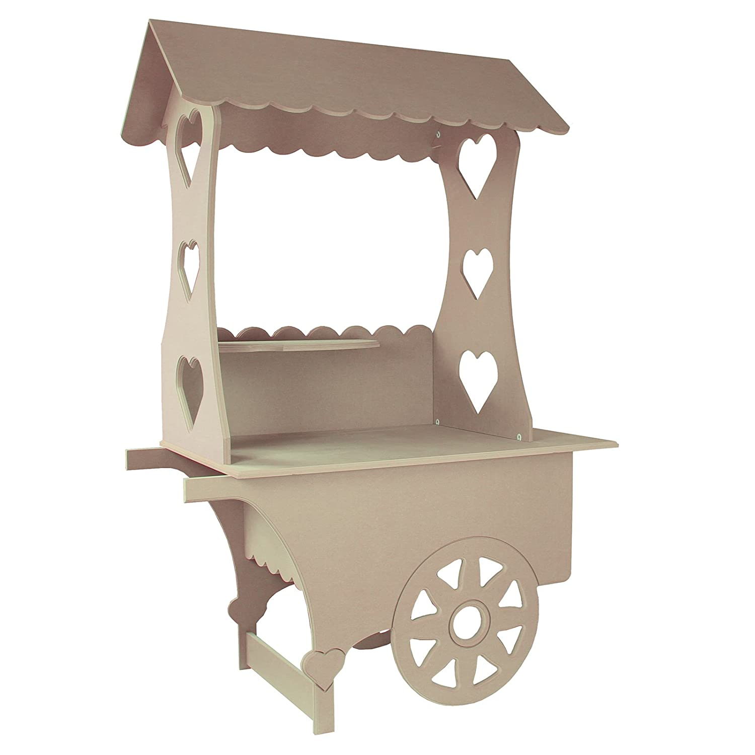 Kukoo Candy Cart Wedding Favours Sweet Stall Birthday Christening Mdf Table Wood Stand