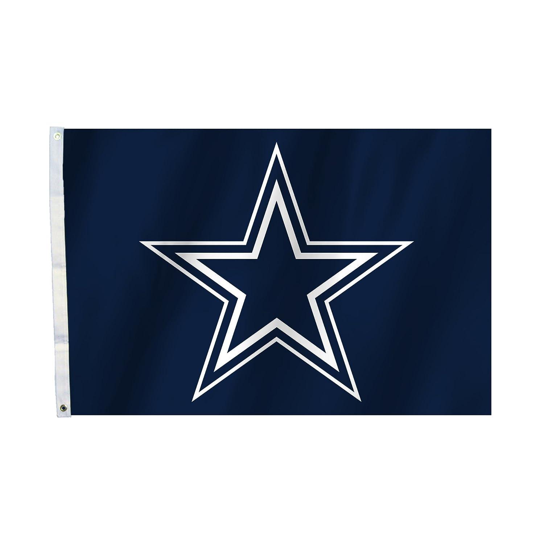 Fremont Die NFL Dallas Cowboys Unisex Dallas Cowboys 2 FT. X 3 ft. Flag W/Grommetts, Marineblau, One Size Fremont Die Inc. 92003B