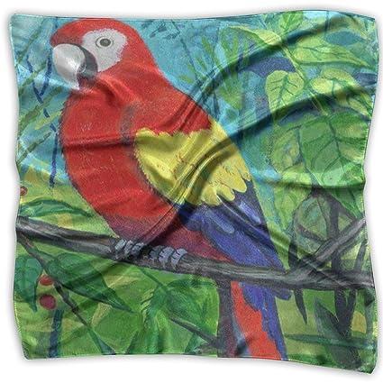 Bufanda cuadrada Loro colorido Pájaro Guacamayo En Diadema de ...