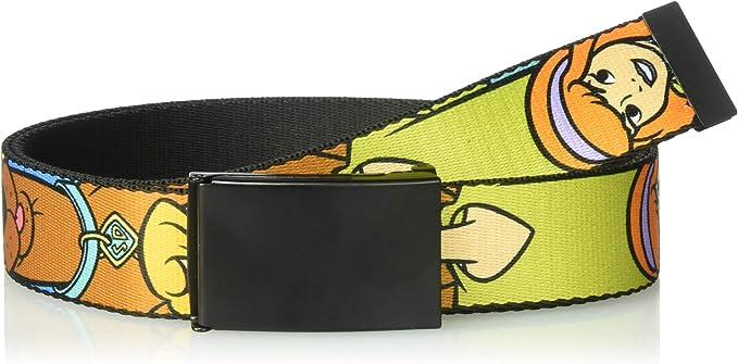 Buckle Down Herren Web Belt Scooby Doo 1 5 Gürtel Mehrfarbig 4 Cm Breit 42 Cm Hosen Größe Bekleidung
